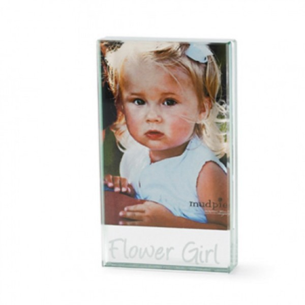 Mud Pie Flower Girl Glass Frame